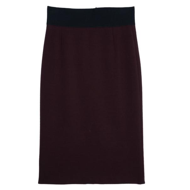 Marc Jacobs Burgundy High Waist Wool Skirt S