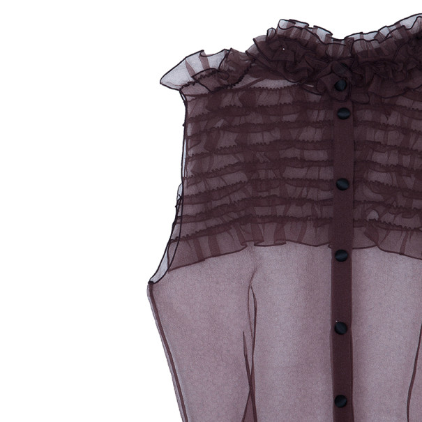 Marc Jacobs Burgundy Ruffle Top M