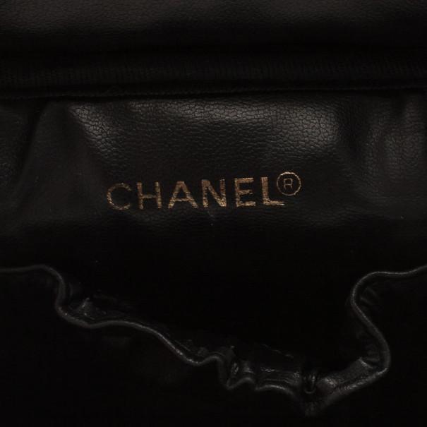 Chanel Black Calfskin Vanity Bag