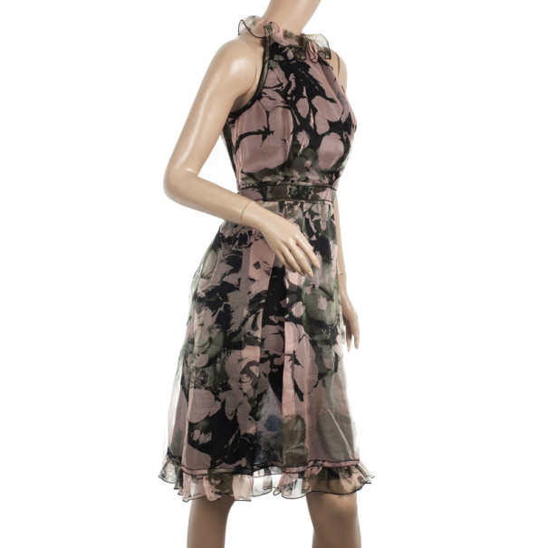 D&G Silk Floral Print Dress S