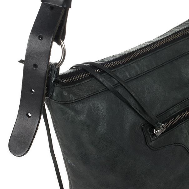 Balenciaga Dark Grey Arena Classic Cross Day Messenger Bag