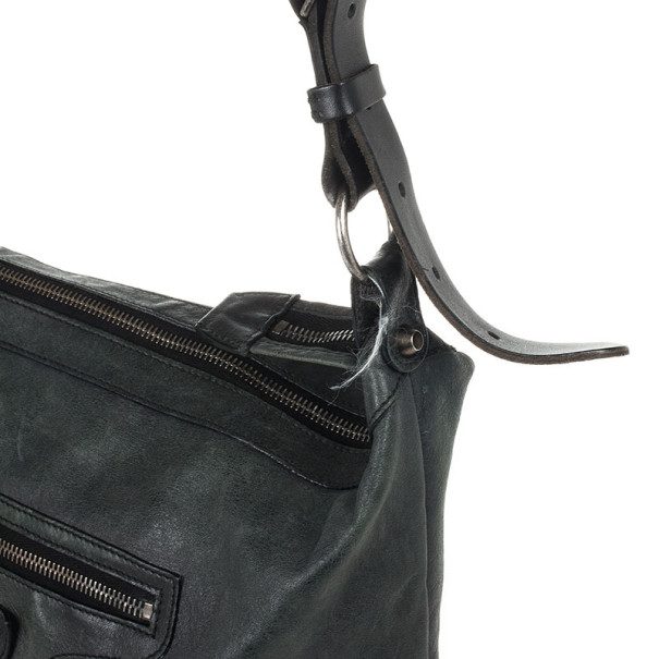 Balenciaga Dark Grey Arena Classic Cross Day Messenger Bag