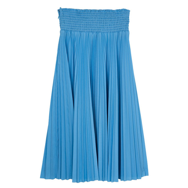 Prada Light Blue High Waist Pleated Skirt M