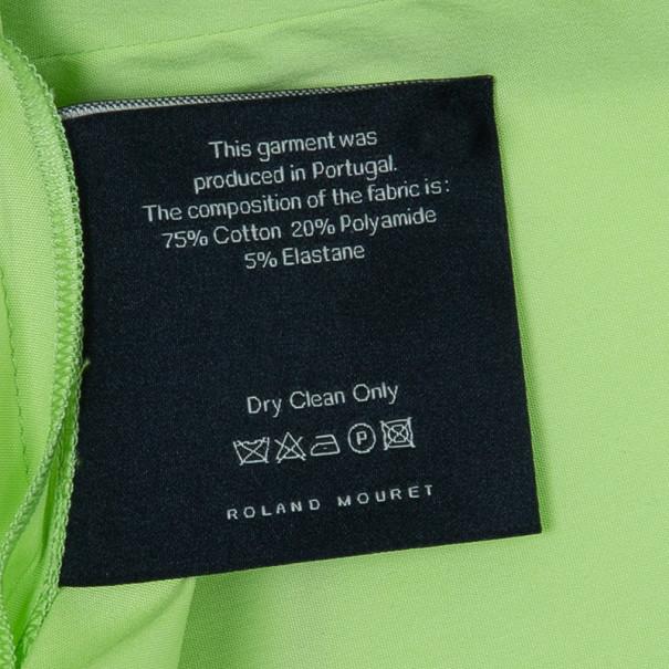 Roland Mouret Paolo Pleat Detailed Cotton Blend Top M