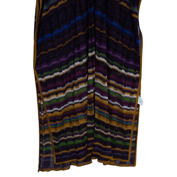 Missoni Purple Crochet Knit Long Beach Dress M