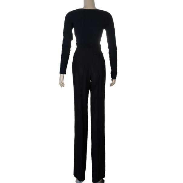 Armani Collezioni Black Acetate Trousers S