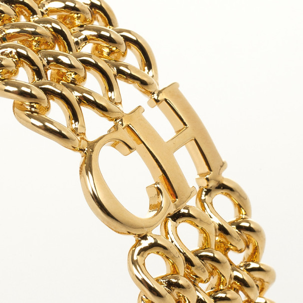 Carolina Herrera Golden Chain Bracelet
