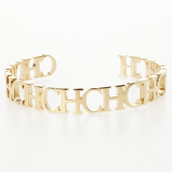 Carolina Herrera CH Open Golden Bracelet