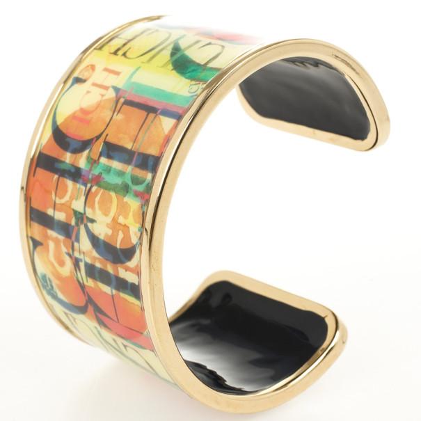 Carolina Herrera CH Logo Multicolor Cuff Bracelet