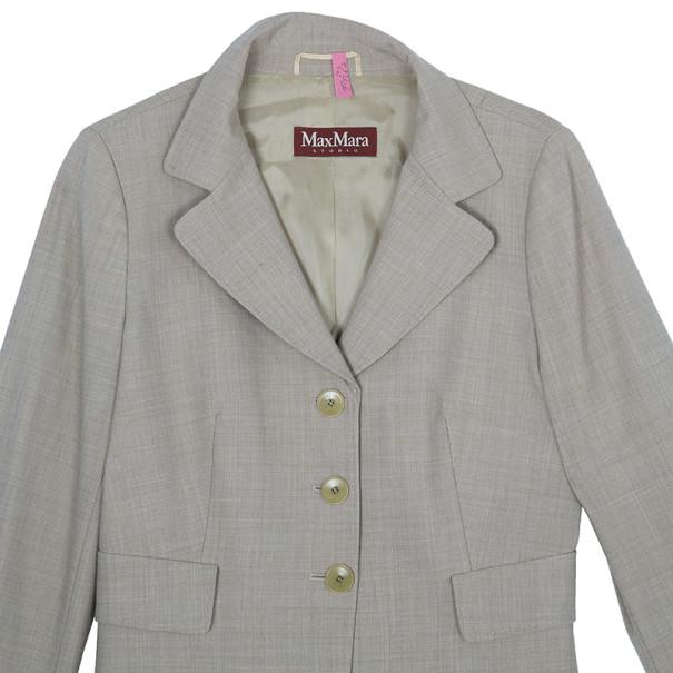Max Mara Beige Laine Skirt Suit M