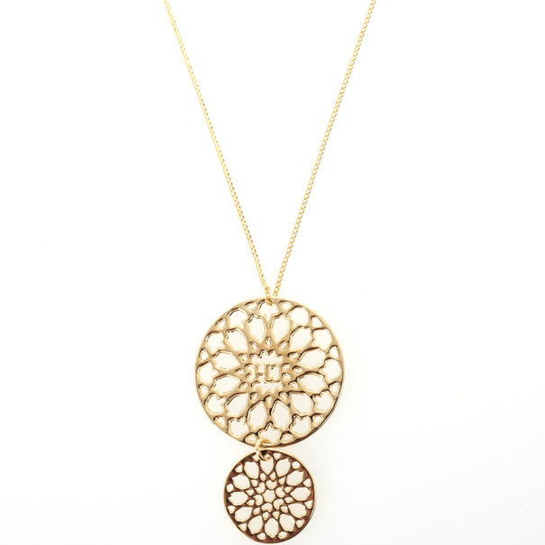 Carolina Herrera Round Pendant Necklace