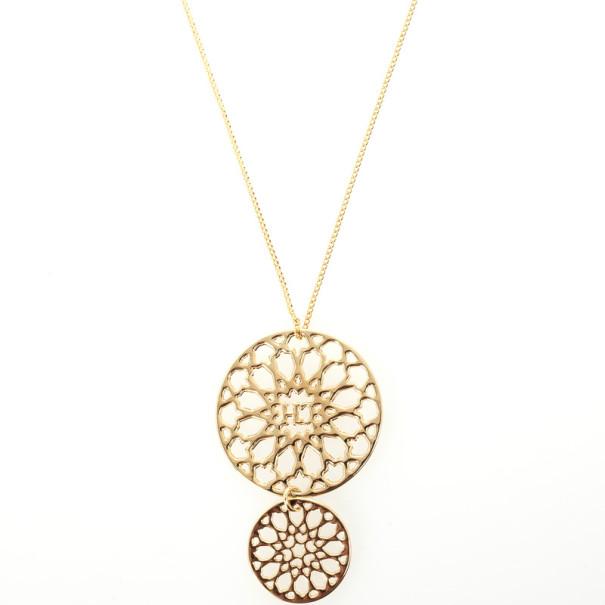 Carolina Herrera Round Pendant Necklace