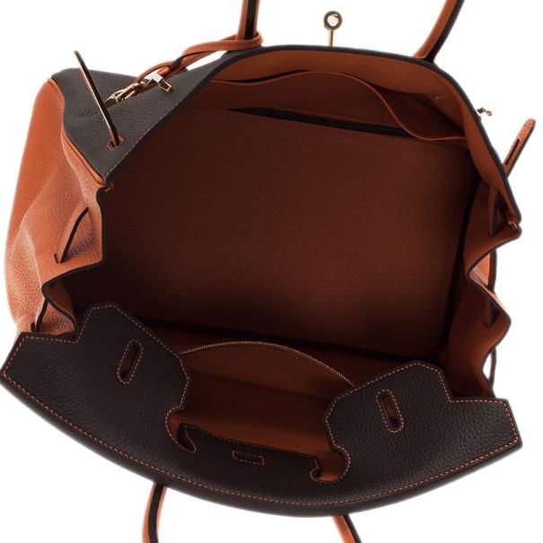 Hermes Bi-Color Togo Leather Made To Order Birkin 35