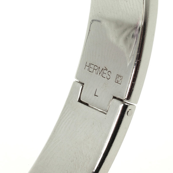 Hermes Clic H Orange Enamel Bracelet