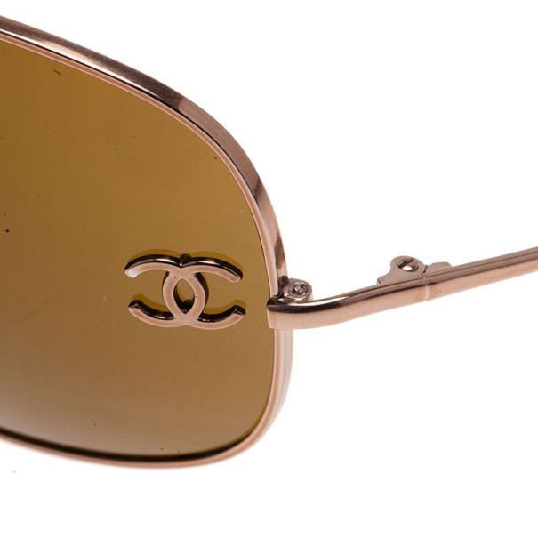 Chanel Silver CC Aviators