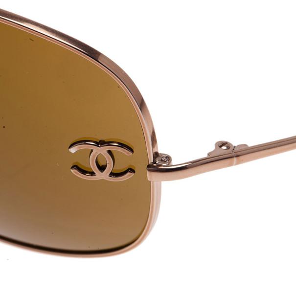 Chanel Silver CC Aviators