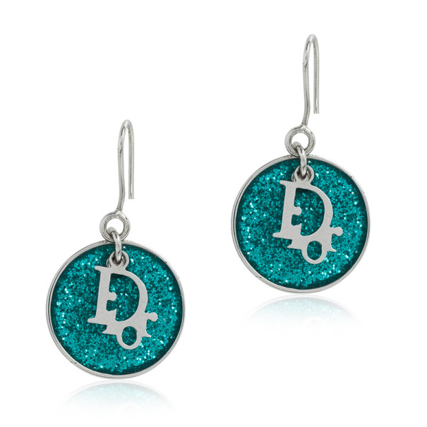 Christian Dior Signature Glitter Blue Earrings