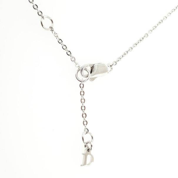 Christian Dior Mini Flower Purple Necklace