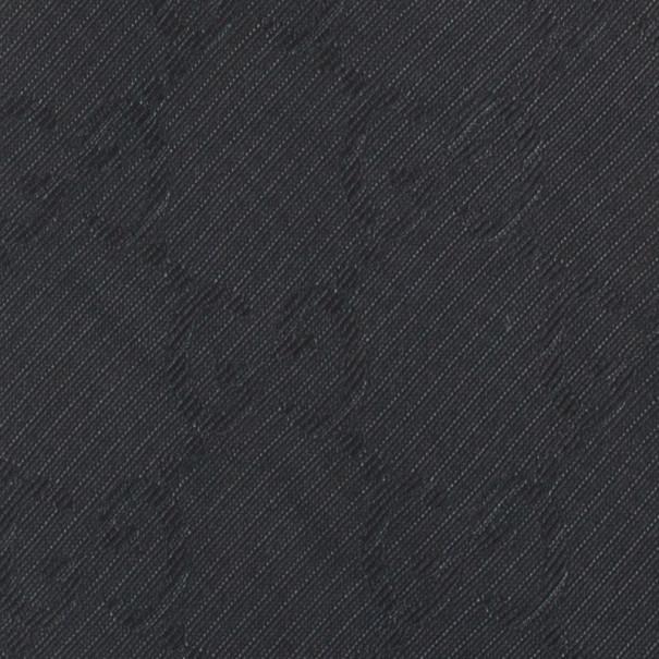 Gucci Black 'GG' Monogram Silk Tie