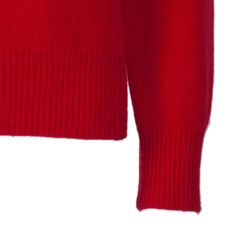 Burberry Red Crewneck Cashmere Knit Sweater L
