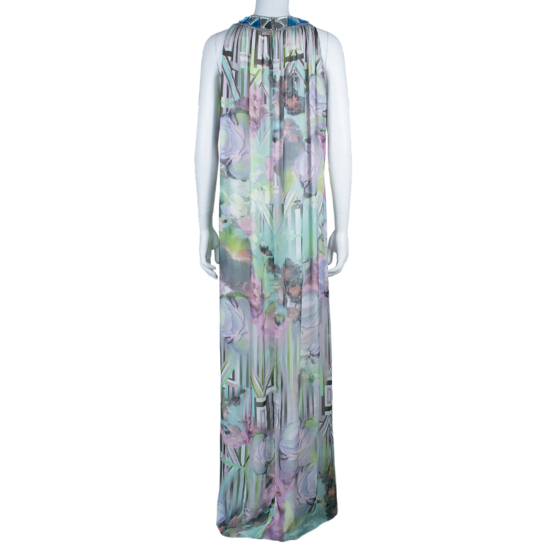 Matthew Williamson Multicolor Embellished Maxi Dress M