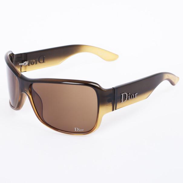 Christian Dior Brown Latina Girl 5 Shield Women Sunglasses