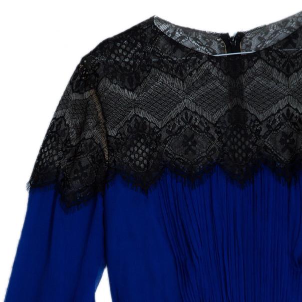 Tadashi Shoji Chantilly Lace Chiffon Flare Cocktail Dress XL