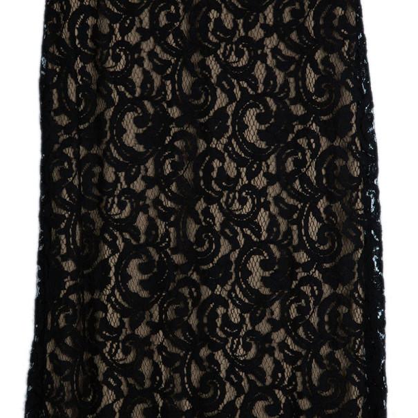 Tadashi Shoji Monochrome Lace Gown S