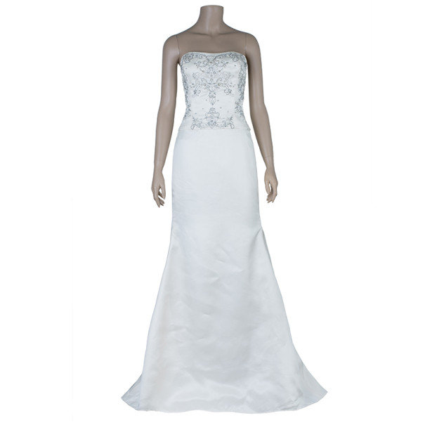 Reem Acra Harmony Embellished Wedding Dress M