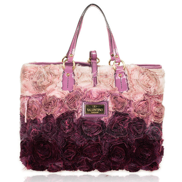 Valentino Purple Medium Rosier Tote