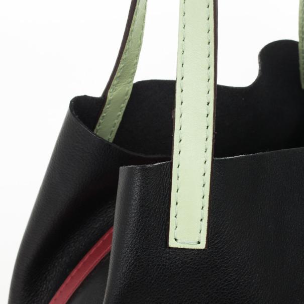 Carolina Herrera CH Black Multicolor Mini Matryoshka Bag