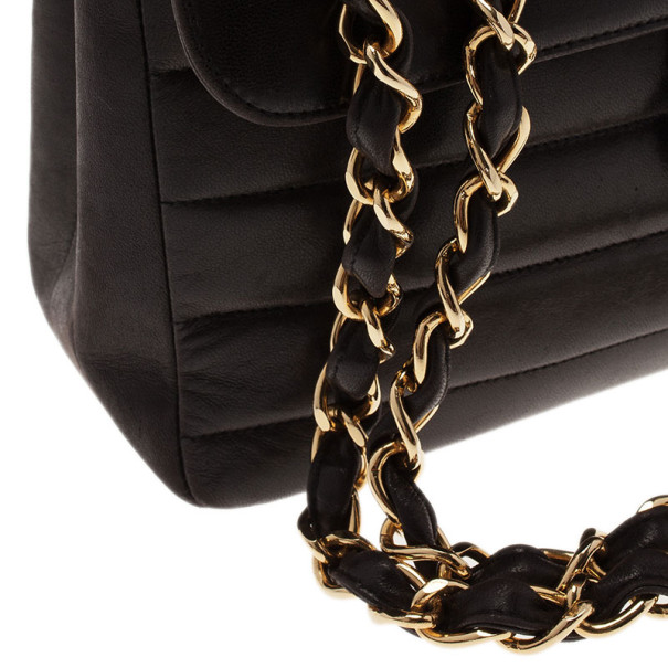 Chanel Black Vintage Horizontal Stitch Bag