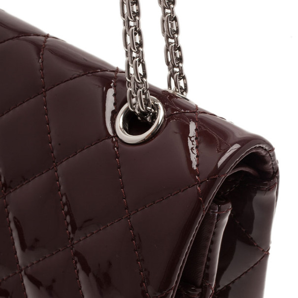 Chanel Burgundy Patent Leather 2.55 Reissue Double Flap Bag