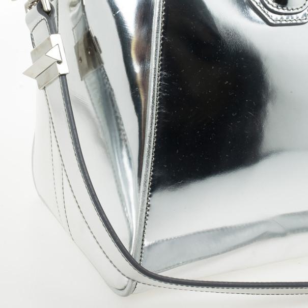 Givenchy Silver Leather Antigona Tote