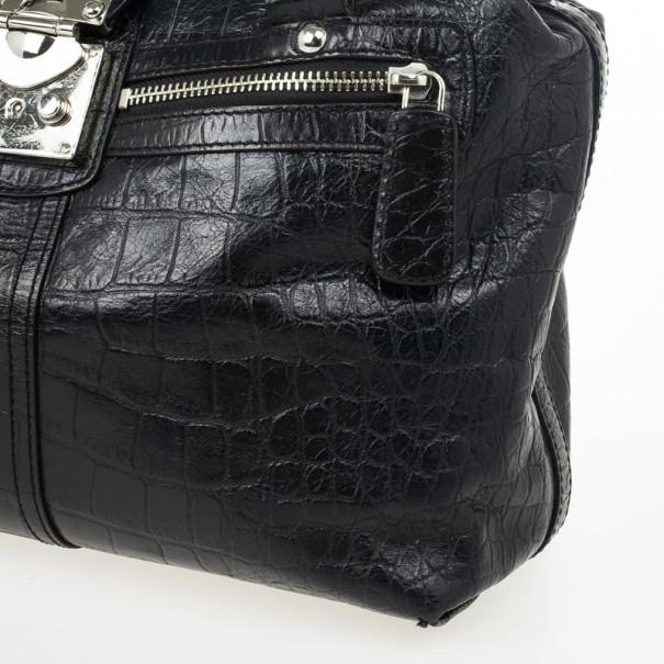 DKNY Gramercy Croc Leather Handbag