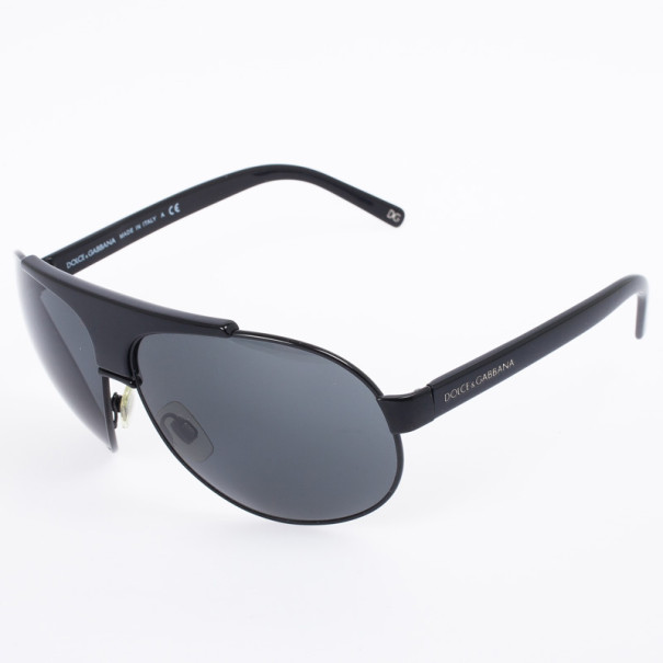 Dolce and Gabbana DG 2056 Black Unisex Aviators