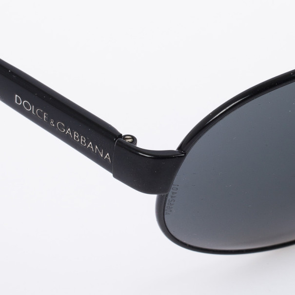 Dolce and Gabbana DG 2056 Black Unisex Aviators