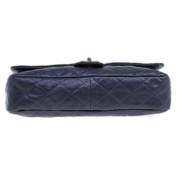 Chanel Purple Coated Caviar Flap Bag