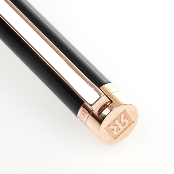 Regnier Resin and Steel Plated Gold Tone Pen