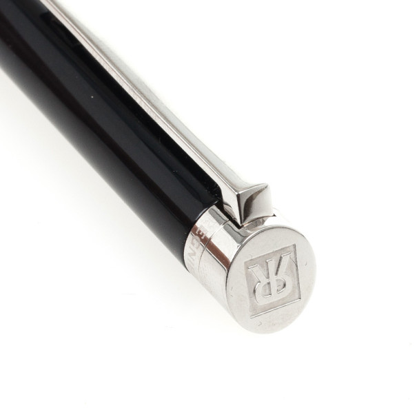 Regnier Black and Silver Steel Plated Pen