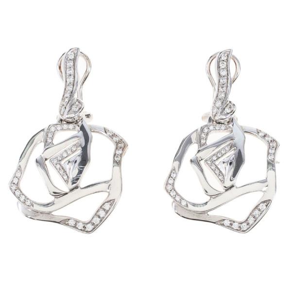 Gavello Diamond 18K White Gold Earrings