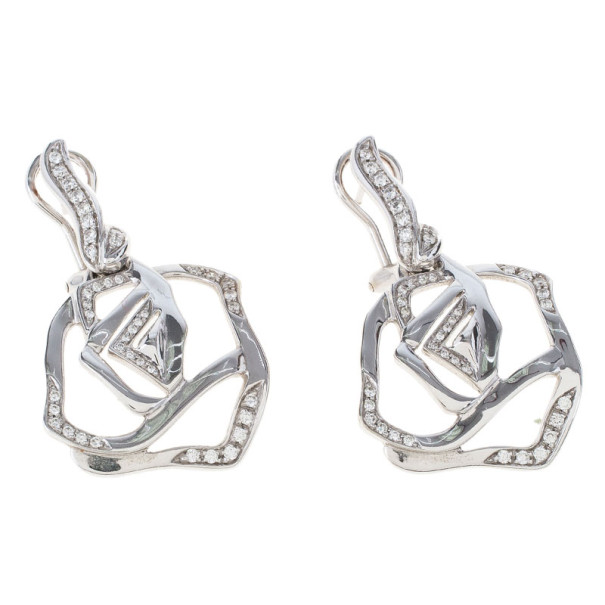 Gavello Diamond 18K White Gold Earrings