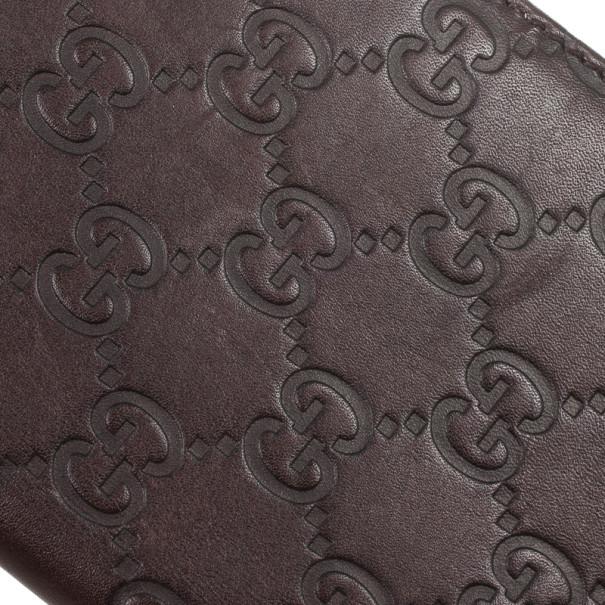Gucci Brown Guccissima Leather Passport Case