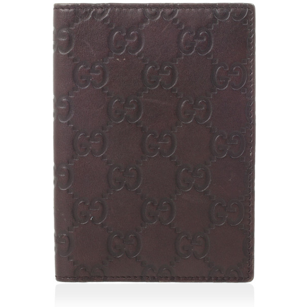 Gucci Brown Guccissima Leather Passport Case
