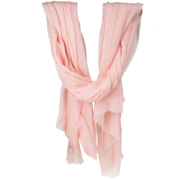 Chanel Blush Pink Modal and Cashmere Scarf