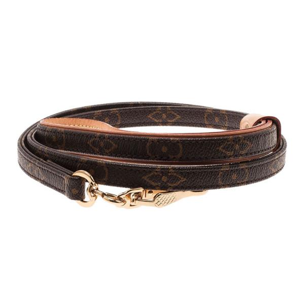 Louis Vuitton Monogram Baxter Dog Leash MM