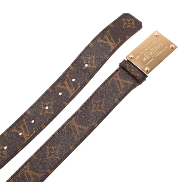 Louis Vuitton Monogram Canvas Inventeur Belt 95CM