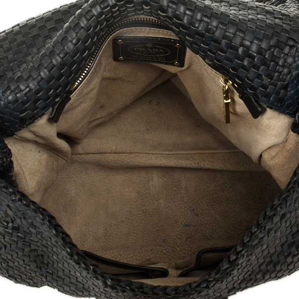 Prada Limited Edition Madras Woven Flap Top Satchel
