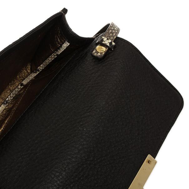Michael Kors Gia Python Clutch Bag