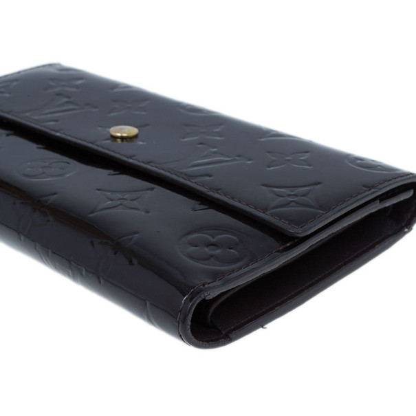 Louis Vuitton Amarante Monogram Vernis Sarah Wallet